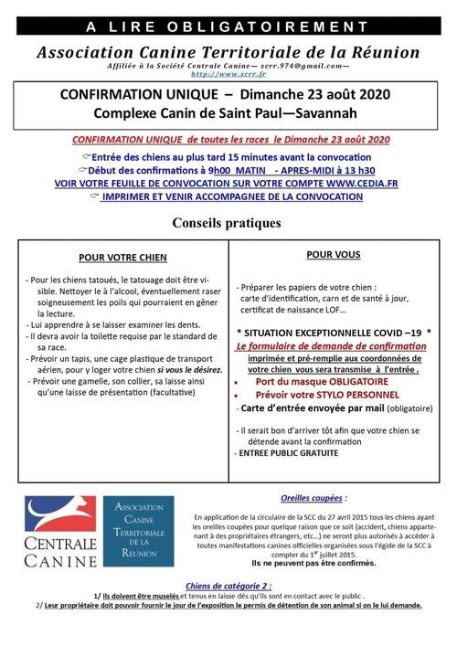 SEANCE DE CONFIRMATION St PAUL 23 AOUT 2020