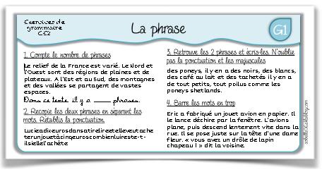 Mes exercices de français CE2