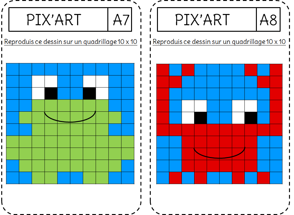 Reproduction Le Pixel Art L Ecole De Crevette