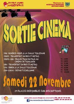 22 novembre : sortie cinéma avec le secteur Jeunes d'Auzeville