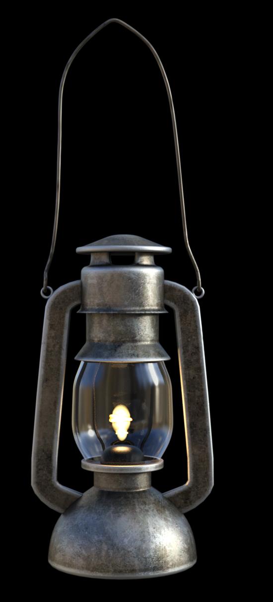Tube de lampe à pétrole (render-image)