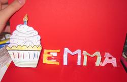 Carte pour l'anniv' d'Emma (oui encore elle)