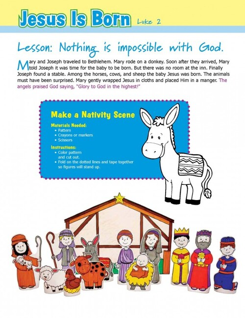 Nativity Scene Craft Page 1