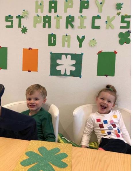 Jacque et Gabriella fêtant la St Patrick