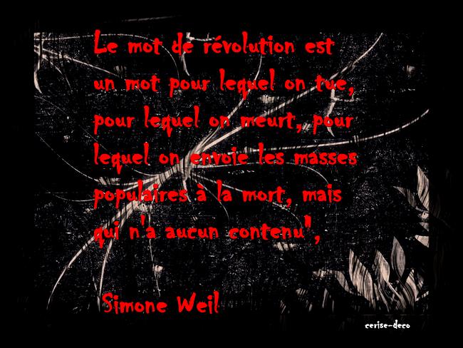 citation de simone weill
