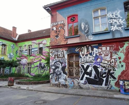 Le quartier des Alternatifs  à Ljubljana en Slovénie (photos)