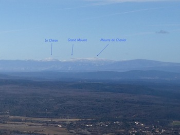 Zoom sur les montagnes du Verdon