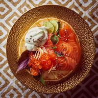 Gravlax et chantilly au wasabi
