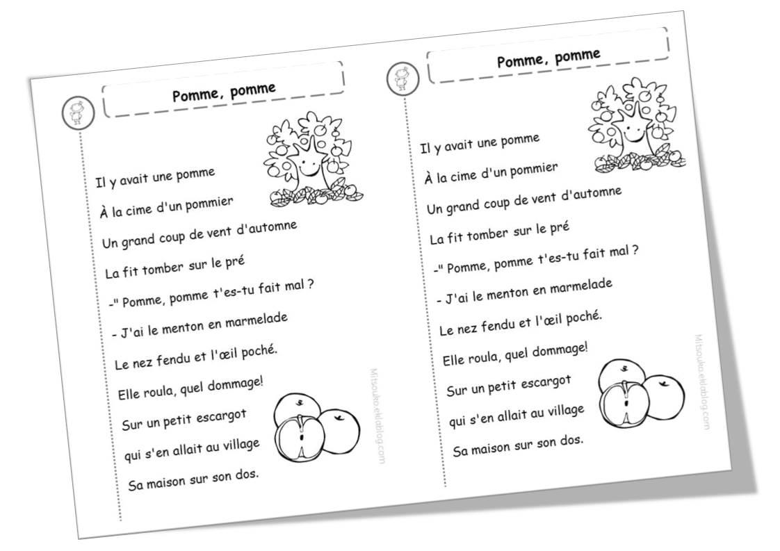 Favorit Poèmes sur les pommes, les poires, et les fruits en général  HB69