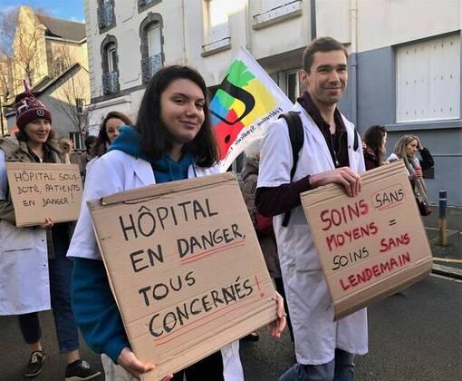 Défense du système de Santé : 500 manifestants à Brest (OF.fr-17/12/19-16h52)