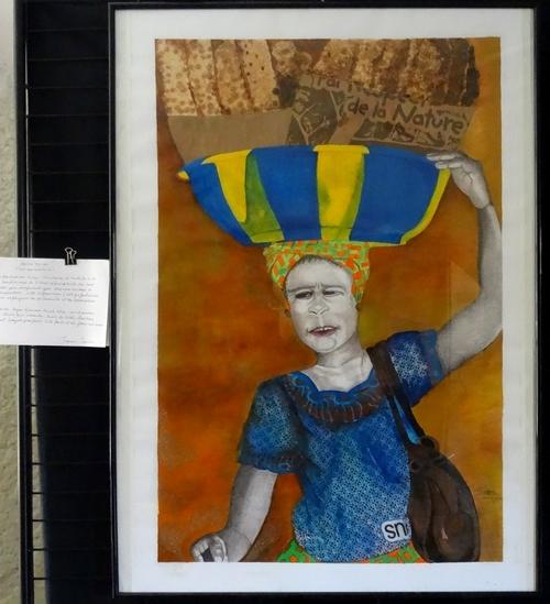 """Jimmy Tawaba et Dominique Masson-Flandrin ont exposé de bien beaux tableaux lors du festival """"Cultures sans Frontières"""""""
