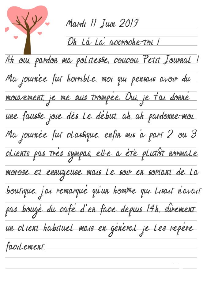 Journal de Mireille, 11 Juin 2019