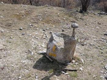 Ce cairn remarquable évite de rater le sentier