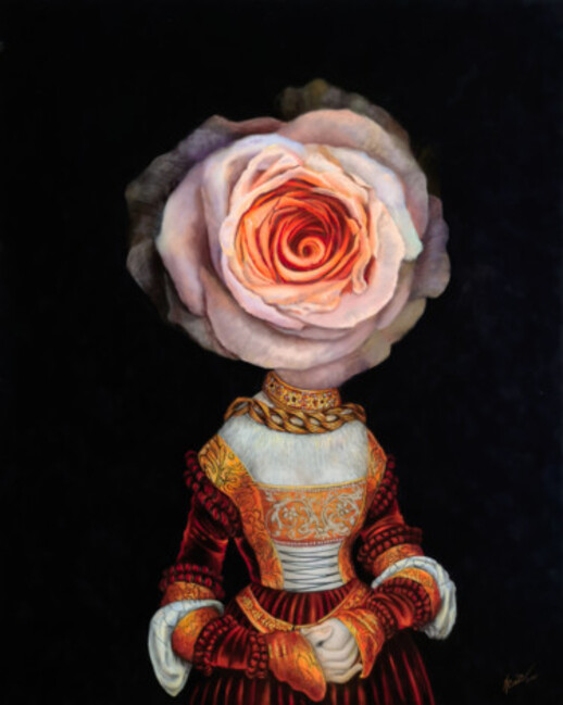 Flower Lady by Natalya Zhadenova