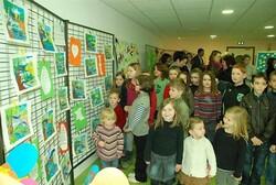 Les élèves exposent à la médiathèque - Remungol