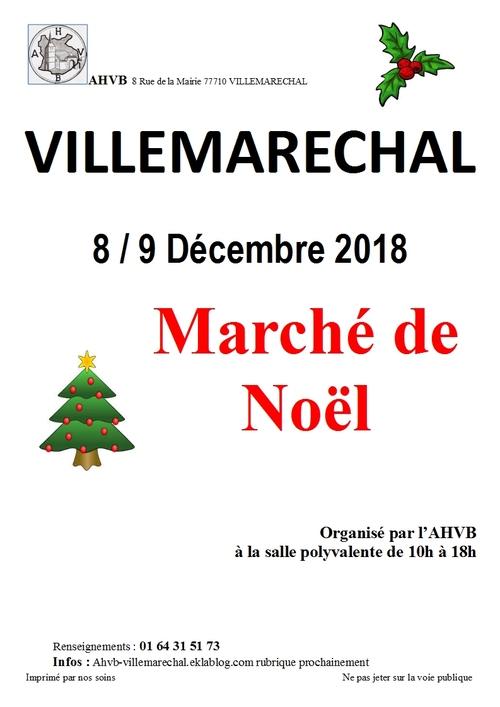 Marché de Noël 8 et 9 décembre 2018