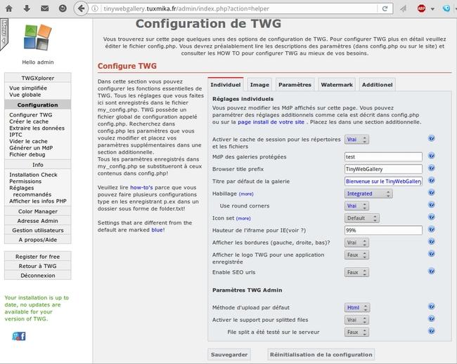 Installer TinyWebGallery sur Centos 7