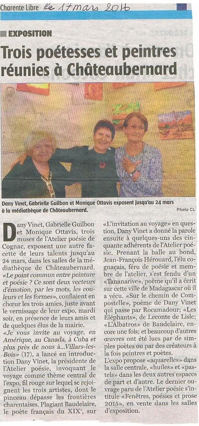 et  merci  à Jacques Deschamps pour ce brillant reportage ...Vive la poésie et la peinture !!!