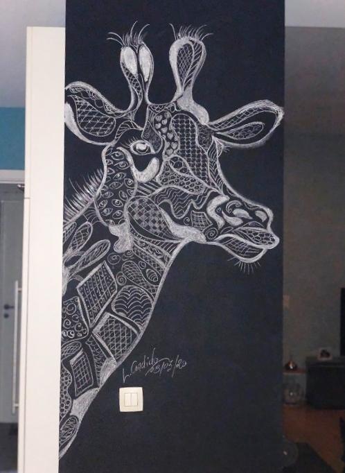 La girafe.