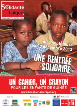 """Solidarité: """"un cahier, un crayon"""""""