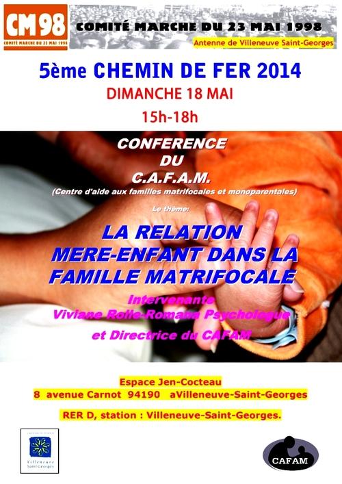 """Conférence CM98/CAFAM le 18 mai :""""LA RELATION MERE - ENFANT DANS LA FAMILLE MATRIFOCALE ANTILLAISE""""."""