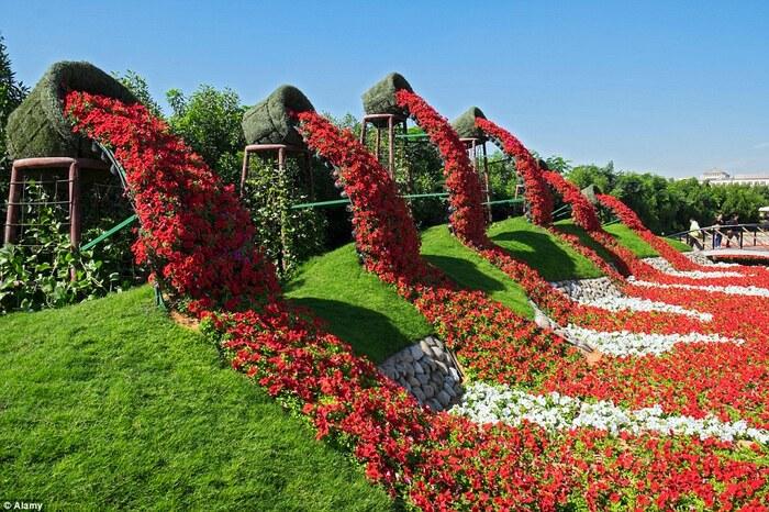 Le plus grand jardin de fleurs au monde.