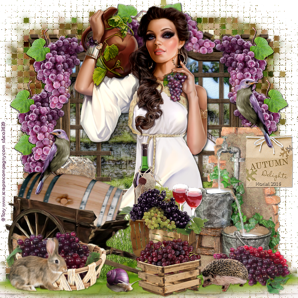 tutoriel scrap vendanges