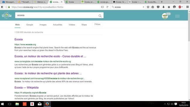 Ecosia, un moteur de recherche écolo qui plante des arbres...