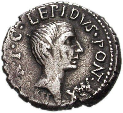 Denier de Lépide en 42 av. J.-C.