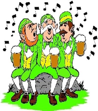 On chante, on rit entre amis.... C'est la Saint Patrick