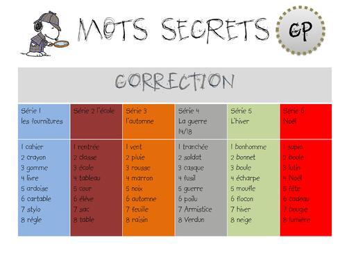Mots secrets