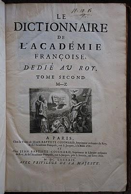 dictionnaire 1694