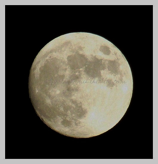 Dame la Lune hier soir...