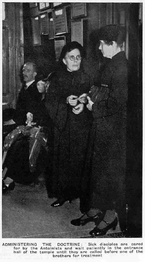 Modern Seers of Liège (The Sphere, Saturday 29 June 1935)-Administering the doctrine