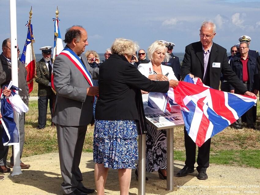 Inauguration Mémorial LANCASTRIA - 18 juin 2016 - Panneau historique