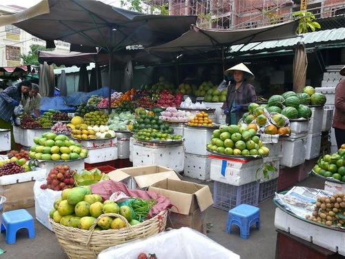 un petit marché local