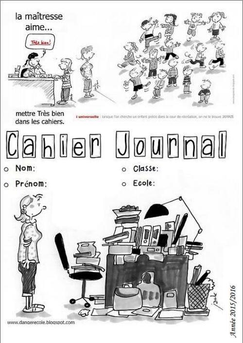 Page de garde cahier journal