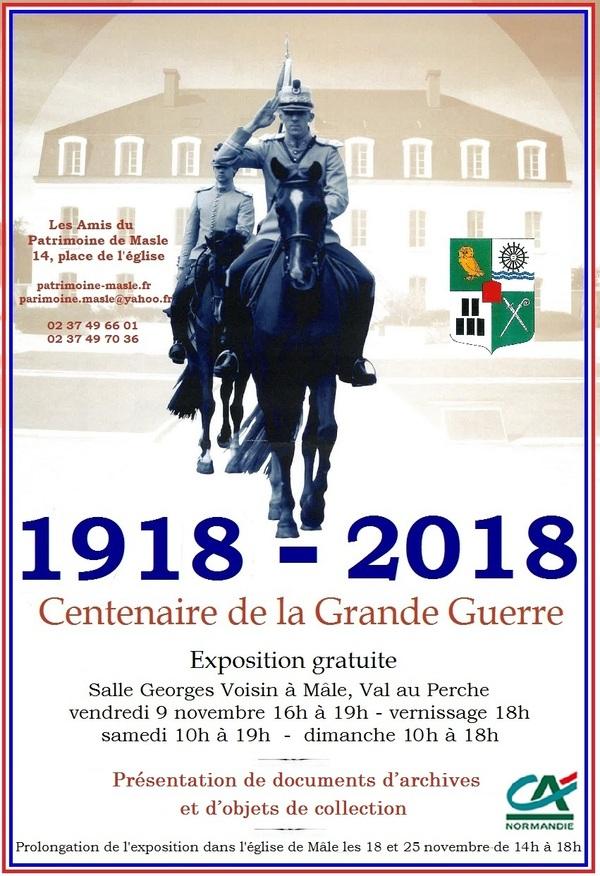 """Exposition """"Centenaire de la Grande Guerre"""" à Mâle"""