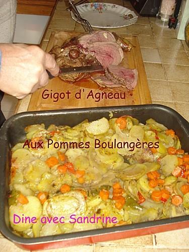 Gigot d'agneau aux pommes boulangères 2