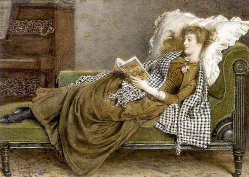 03 - Femmes lisant - Peintures 19eme