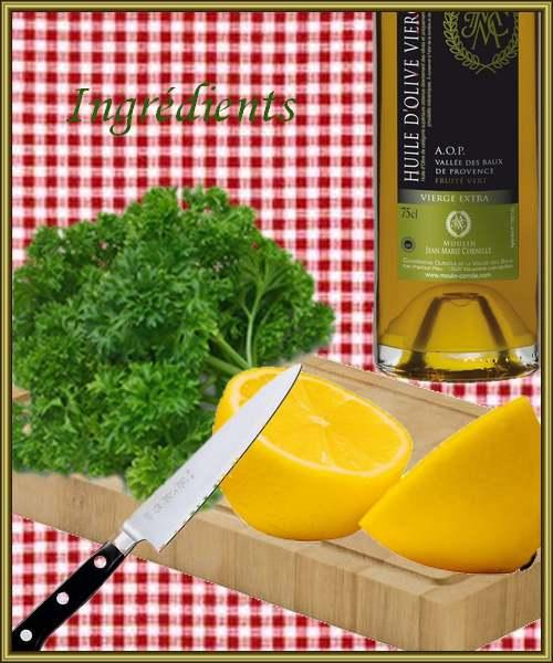 Recette de cuisine : Sauce verte au^persil