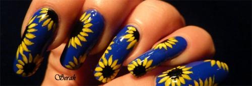 Nail Art Tournesols!!