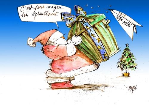 Noël Jean-Marc Ayrault aéroport ayraultport cadeau sapin