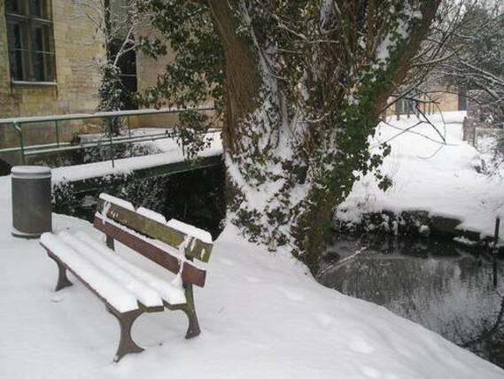 Neige sur Issoudun