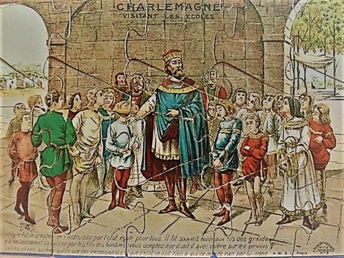 Charlemagne visitant les écoles