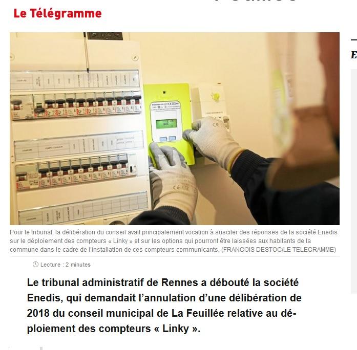 Rennes (35) >>> Compteurs Linky : Enedis débouté à La Feuillée