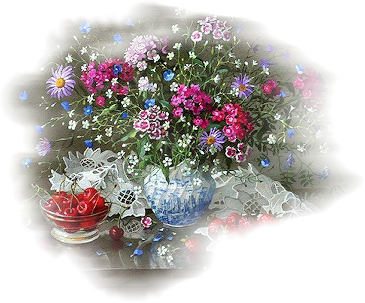Tubes misted fleurs