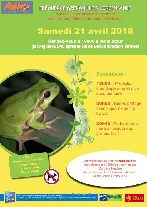Fréquence grenouille le 21 avril