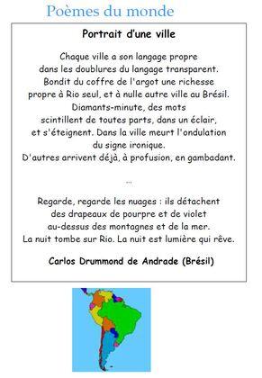 Voyage en poésie : le continent Amérique du Sud