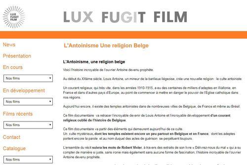 L'Antoinisme, une religion belge (film en prévision)